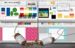 『MyBookEditor』で作る写真集を、多彩な図形や色彩でより満足感のある一冊に。